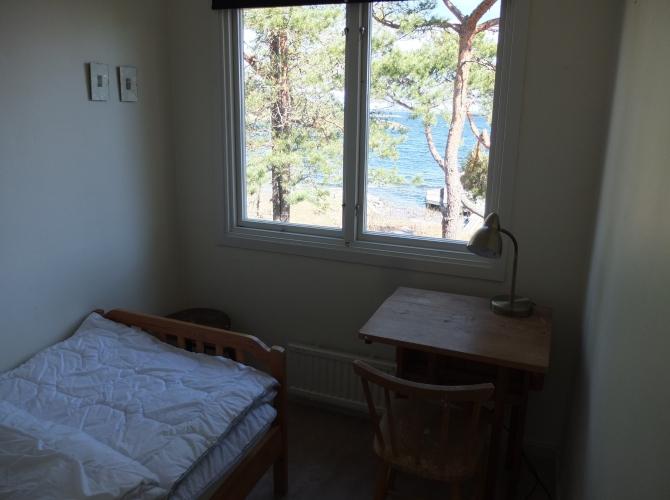Lilla sovrummet med arbetsplats