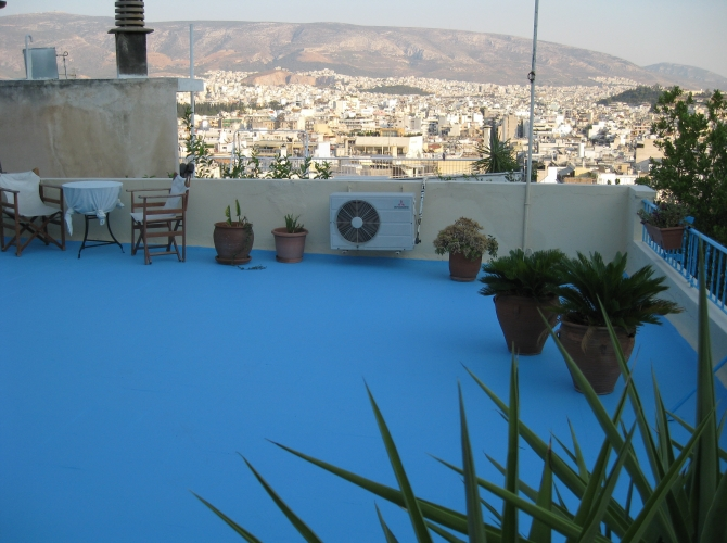 Utsikt från övre terrassen