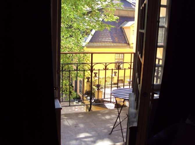Utsikt från balkongen/View from the balcony